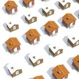 Casas modelo de la arquitectura en blanco Fotos de archivo