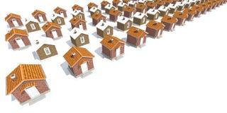 Casas modelo de la arquitectura en blanco Foto de archivo libre de regalías