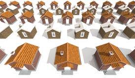 Casas modelo de la arquitectura en blanco Imágenes de archivo libres de regalías