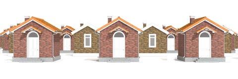 Casas modelo de la arquitectura en blanco Fotos de archivo libres de regalías
