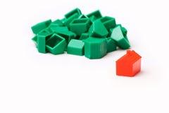 Casas modelo plásticas imagens de stock royalty free