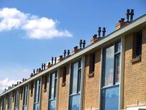 Casas modernas da família foto de stock royalty free