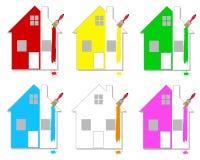 Casas multicoloras Fotografía de archivo libre de regalías