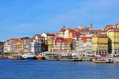 Casas multicoloras de Oporto, Portugal Imágenes de archivo libres de regalías
