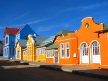 Casas Multicoloured em Luderitz imagem de stock royalty free