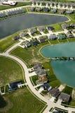 Casas na água fotografia de stock royalty free