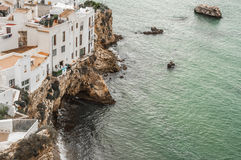 Casas na borda da água Fotografia de Stock Royalty Free