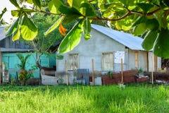 Casas na cidade das caraíbas, Livingston, Guatemala Imagem de Stock