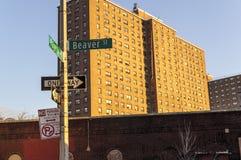 Casas na cidade de Brooklin New York Foto de Stock Royalty Free