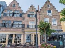 Casas na cidade de Vlissingen, Países Baixos Fotografia de Stock Royalty Free