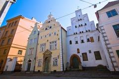 Casas na cidade velha, Riga Fotografia de Stock Royalty Free
