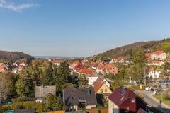 Casas na cidade Wenigerode em Alemanha Foto de Stock Royalty Free