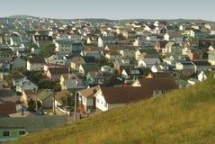 Casas na grande proximidade. Foto de Stock
