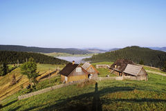 Casas na montanha Foto de Stock Royalty Free