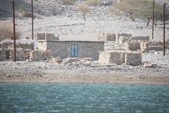 Casas na península de Musandam Imagem de Stock