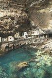 Casas na rocha no la Candelaria de Poris de spain Foto de Stock Royalty Free