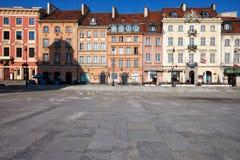 Casas na rua de Krakowskie Przedmiescie em Varsóvia Imagens de Stock