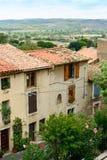 Casas na vila francesa Murviel-les-Beziers Imagem de Stock Royalty Free