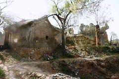Casas na vila velha imagem de stock