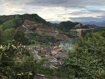 Casas nas montanhas foto de stock royalty free