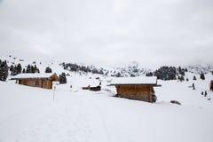 Casas nas montanhas Imagens de Stock