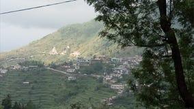 Casas nas montanhas da etapa imagens de stock