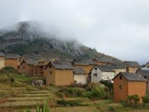 Casas nativas malgaches fotos de archivo libres de regalías