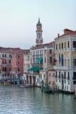 Casas no canal Veneza grandioso Fotos de Stock Royalty Free