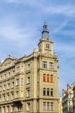Casas no centro da república checa de Praga Fotos de Stock Royalty Free