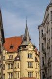 Casas no centro da república checa de Praga Imagem de Stock