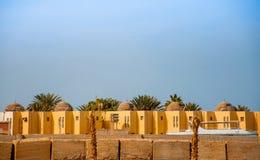 Casas no deserto árabe Imagem de Stock Royalty Free