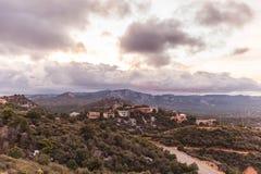 Casas no deserto alto Fotografia de Stock