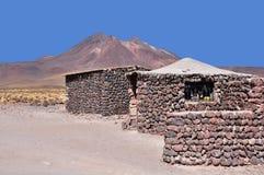 Casas no deserto de Atacama. Foto de Stock Royalty Free