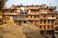 Casas no distrito central de Bhaktapur Imagens de Stock