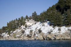 Casas no inverno Fotos de Stock Royalty Free