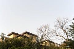 Casas no monte Imagem de Stock