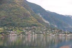 Casas Noruega, Escandinavia Imagenes de archivo