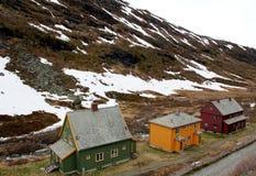 Casas noruegas Foto de archivo libre de regalías
