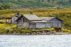 Casas noruegas viejas imágenes de archivo libres de regalías