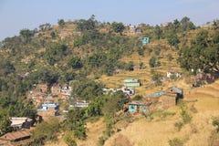 Casas nos montes Imagem de Stock