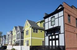 Casas novas de Raleigh imagem de stock