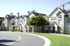 Casas novas do sonho americano foto de stock