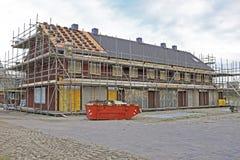 Casas novas sob a construção em Países Baixos Fotografia de Stock Royalty Free