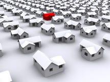 Casas padrão em um fundo branco Foto de Stock Royalty Free