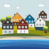 Casas para la venta/el alquiler Casas de las propiedades inmobiliarias?, planos para la venta o para el alquiler Imagen de archivo libre de regalías