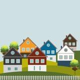 Casas para la venta/el alquiler Casas de las propiedades inmobiliarias?, planos para la venta o para el alquiler Fotografía de archivo libre de regalías