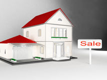 Casas para la venta, Real Estate Foto de archivo