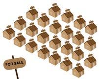 Casas para a venda Fotografia de Stock Royalty Free