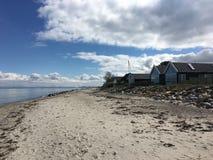 Casas pelo mar 2 Foto de Stock