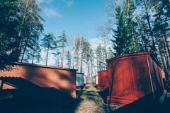 Casas pequenas fotografia de stock royalty free